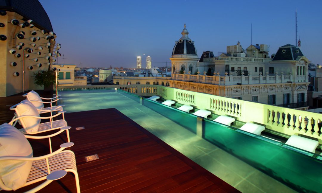 The Barcelona Rooftop Pool You Need To Know About Glitter Mud