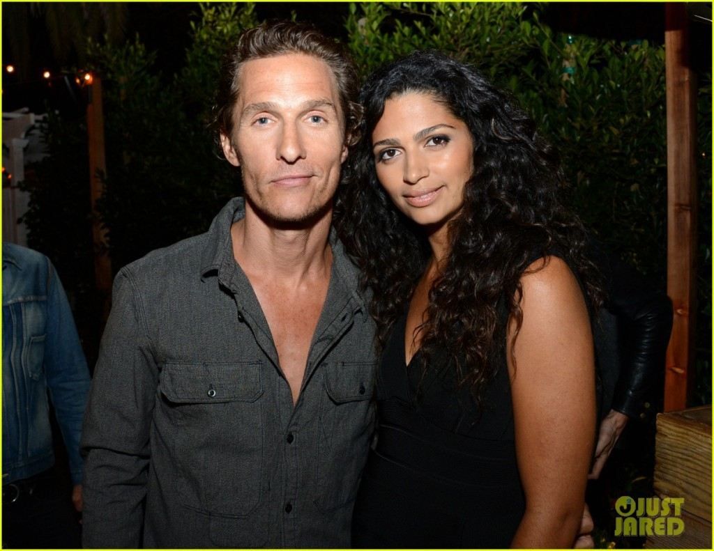 Matthew McConaughey & Camila Alves at Bungalow