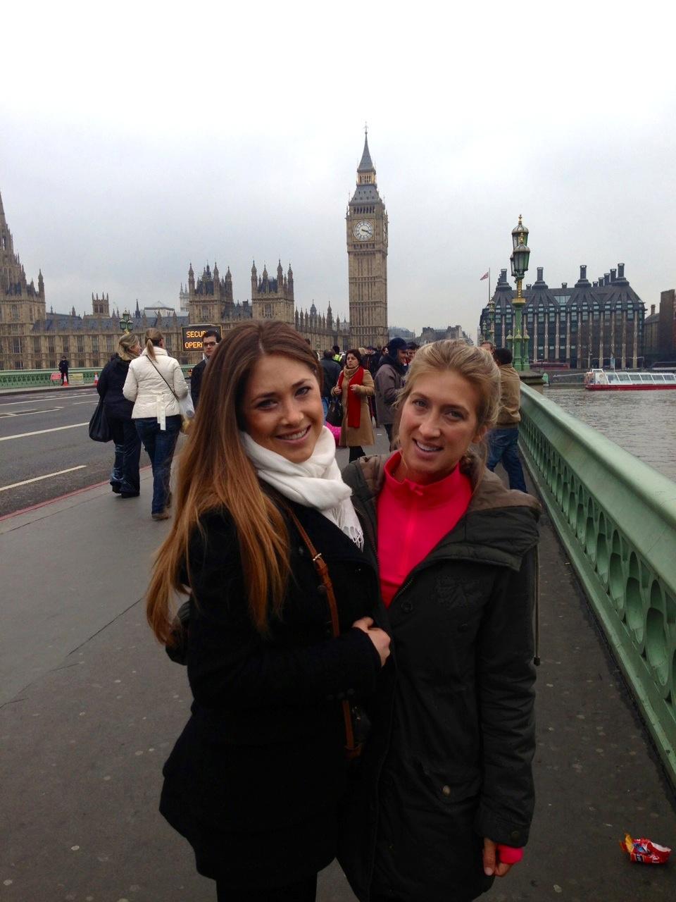 Big Ben between Anna & I.  Big enough for us both!
