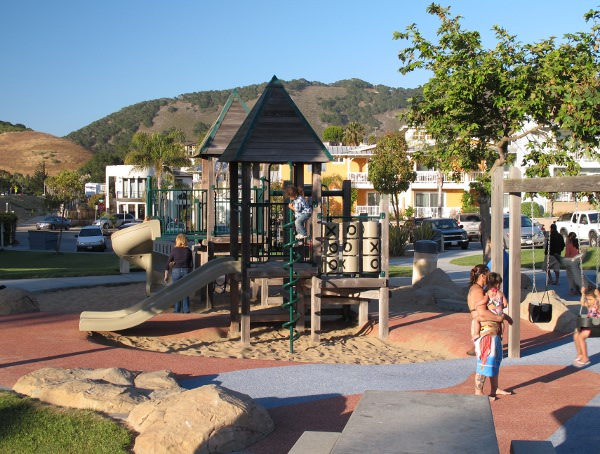 The Avila Beach Playground is right on the beach, fun and clean!