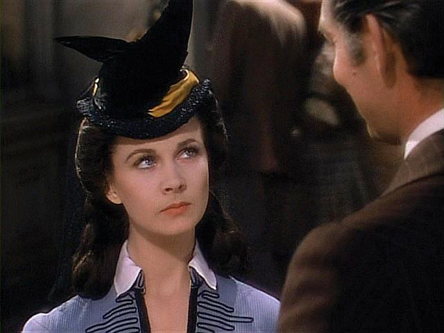 "Vivien Leigh ""Scarlett O'Hara"" black ""Shanty Town"" hat from Gone With the Wind."
