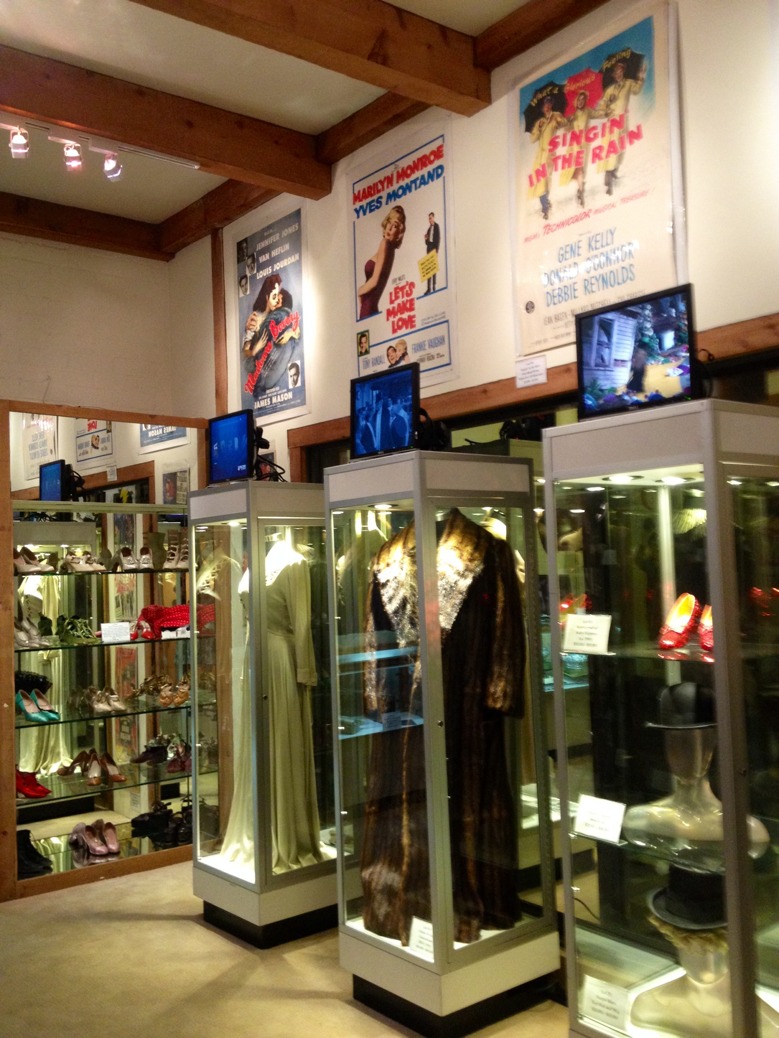 Gorgeous displays set up showcasing some of the most iconic costumes in Hollywood film history...
