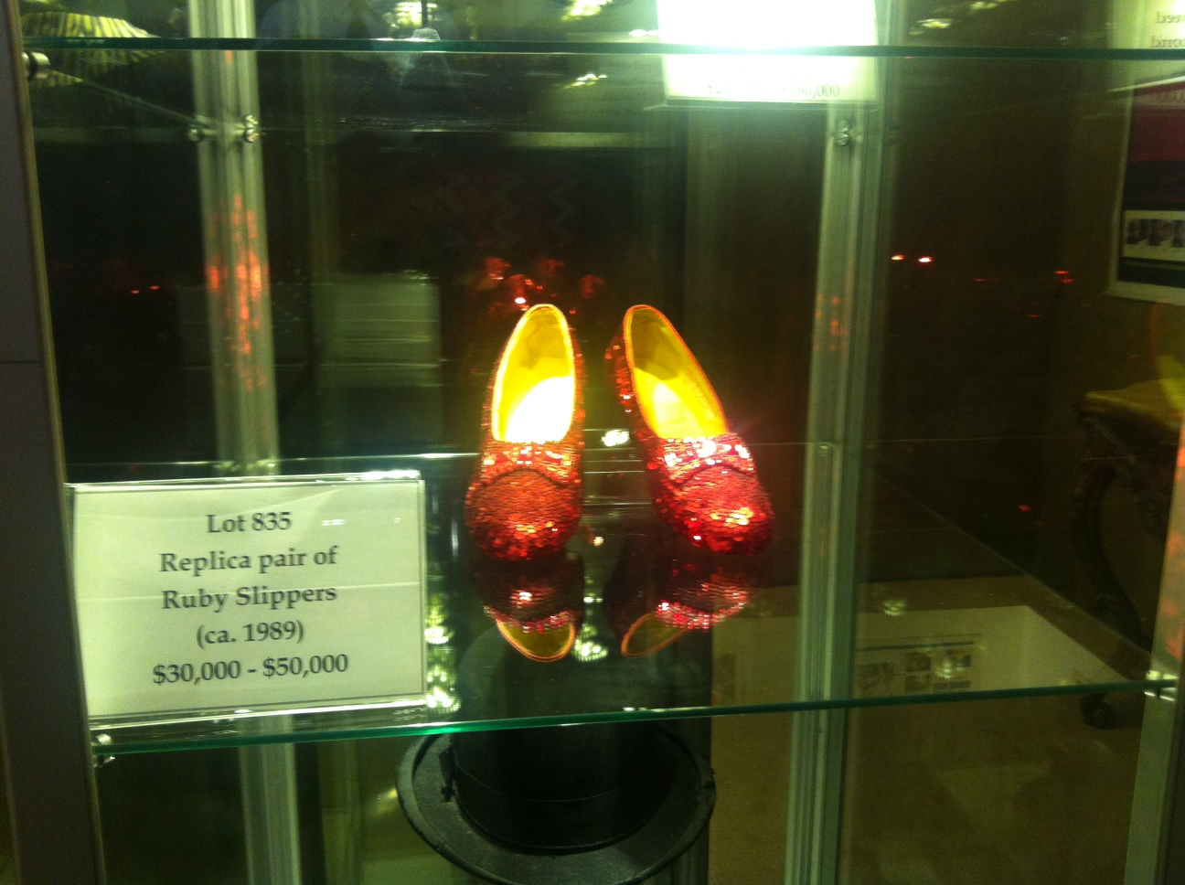 Replica pair of Ruby Red Slippers from the Wizard of Oz
