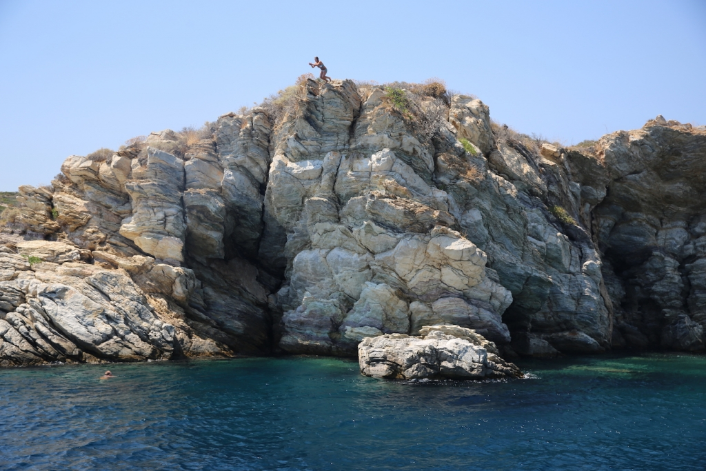 Cliff Jumping in Greece