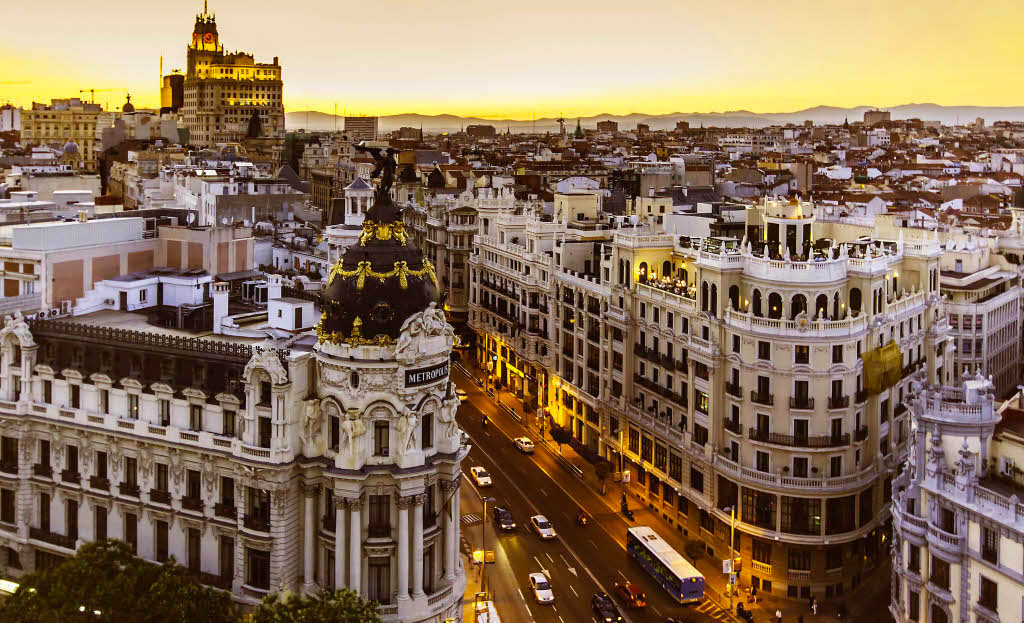 Madrid-sunset