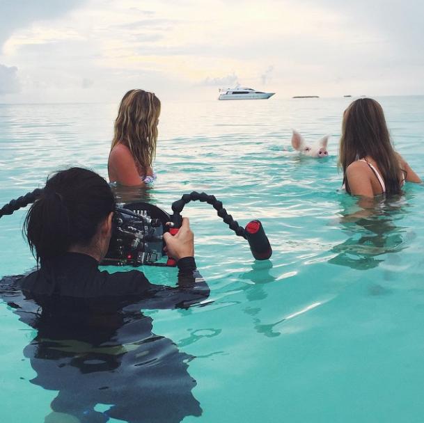 Natsha Oakley, Pig Island, Bahamas