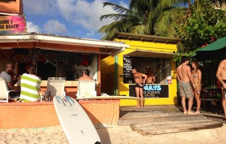 Surfing in Barbados