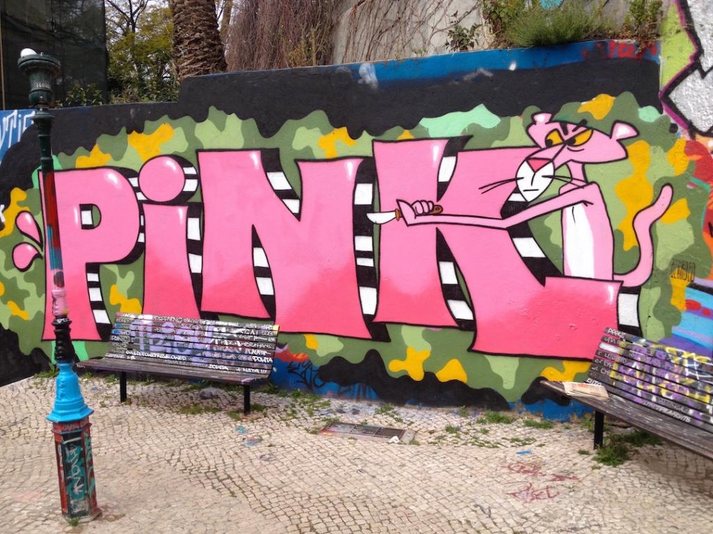 Graffiti-Art-Lisbon-Pink-Panther