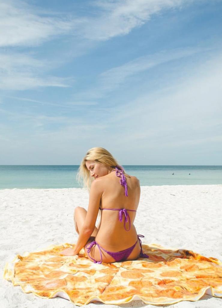pizza-slut-beach-towel
