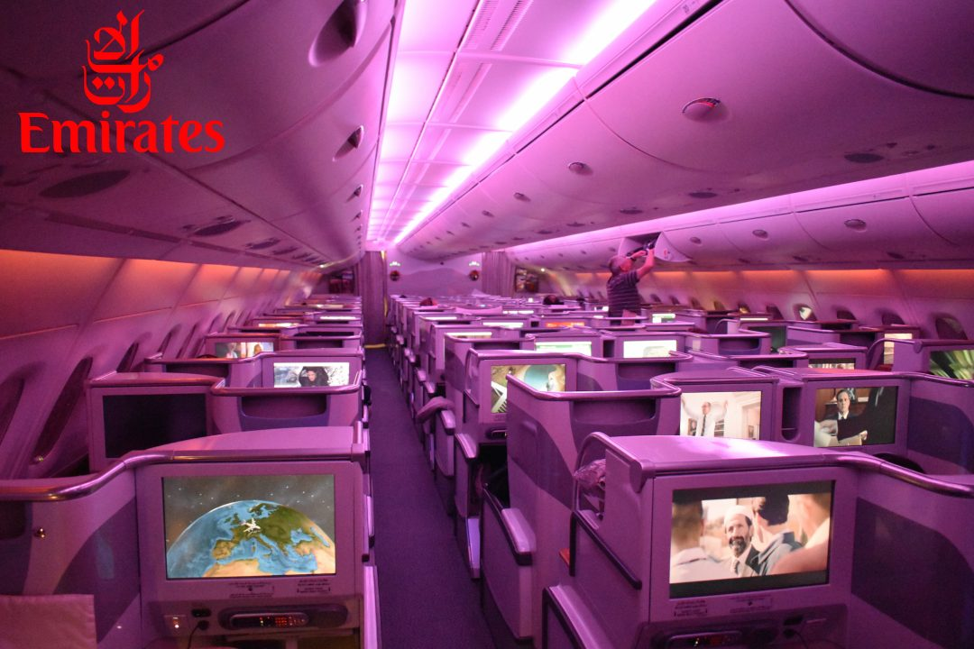 Emirates A380 Business Class Review Glitter Mud