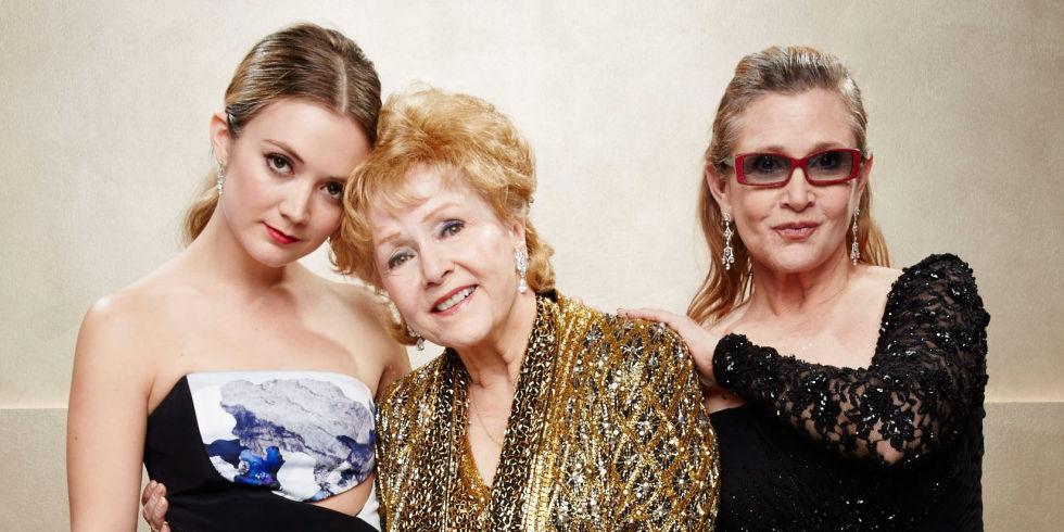 Billie Lourd, Debbie Reynolds and Carrie Fisher