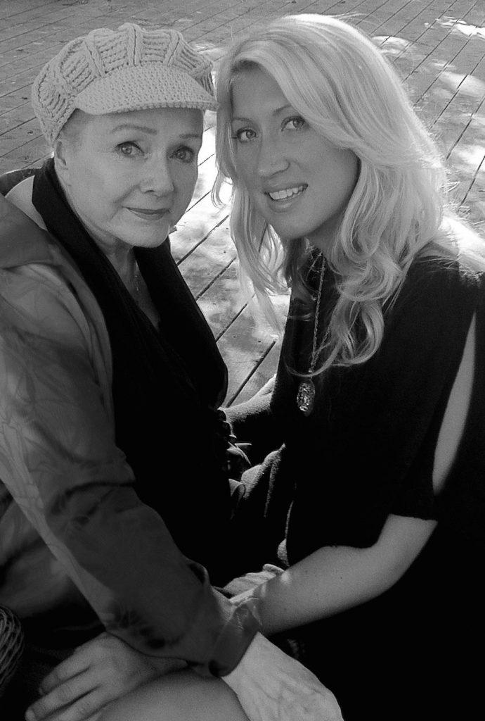 Debbie Reynolds with granddaughter Vanessa Rivers