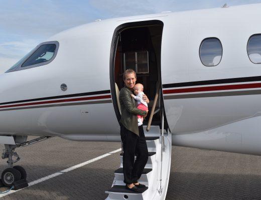 My Baby Girls' First Flight